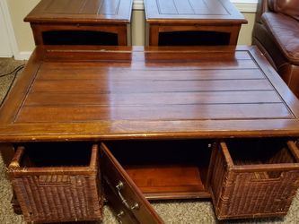 Just Sold Oak Coffee Table. End Tables Sold for Sale in Raleigh,  NC