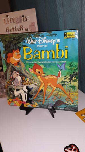Vintage Walt Disney record Bambi for Sale in Tacoma, WA
