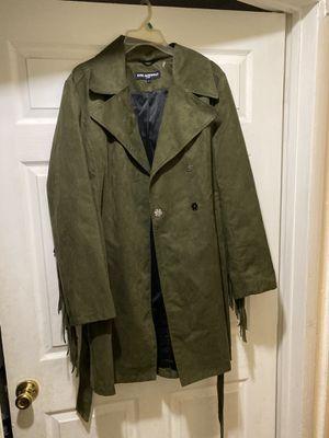 KARL LAGERFELD Suede Fringe Trench Jacket for Sale in Philadelphia, PA