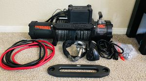 Rough Country 9500 pound winch Synthetic Rope for Sale in Las Vegas, NV