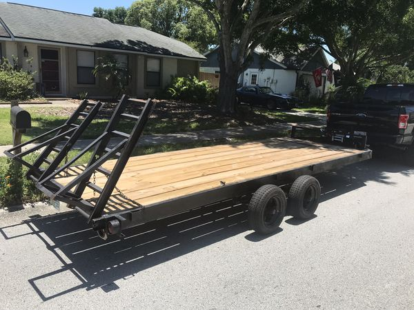 18 x 6.5 feet heavy duty dual axle car trailer hauler