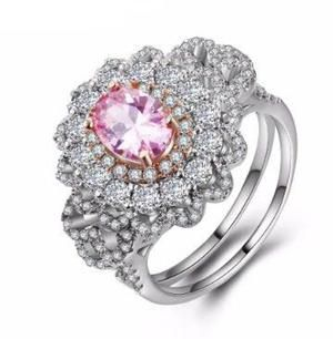 *NEW ARRIVAL* Beautiful 925 Silver Pink White Sapphire Ring Size 10 *See My Other 300 Items* for Sale in Palm Beach Gardens, FL