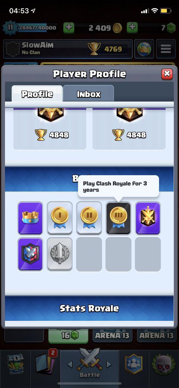 Clash Royale account Original owner