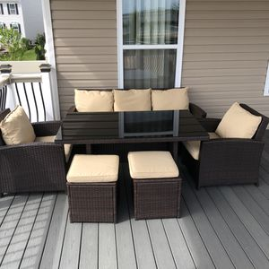 7 piece dining set outdoor patio furniture for Sale in Carnegie, PA
