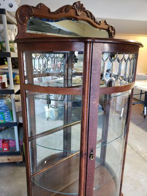 Leaded Glass antique replica China cabinet for Sale in Torrance, CA