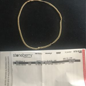"""18"""" 14K Gold Curb Chain Brand New Never Worn Verified Gold for Sale in Columbia, SC"""