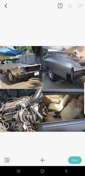 72 monte carlo New 383 stroker and new built 4l60e transmission paper work on both builds 9500obo for Sale in Fresno, CA