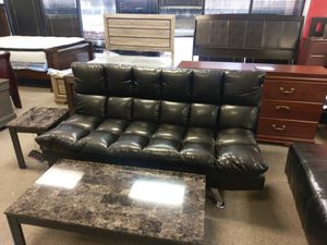 Leather Futon Sofa Bed NEW for Sale in Virginia Beach, VA