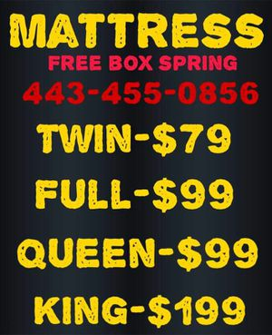 BLOW OUT MATTRESS SALE Free box spring same DAY DELIVERY(443455o856) for Sale in Washington, DC