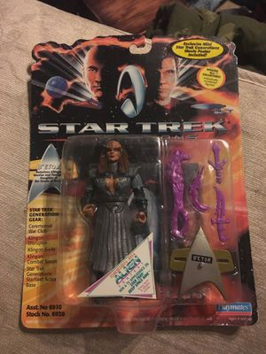Star Trek generations action figure with movie poster behind the action figure collectible B'ETOR for Sale in Oakley, CA