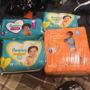 Diapers Sz 5&6 for Sale in Sharon, MA