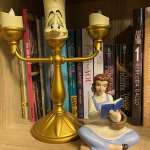 Disney Beauty and The Beast Belle Figurine And Lumiere Candle for Sale in Tampa, FL