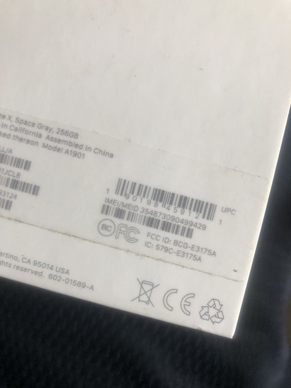 iPhone X Space Grey 256Gb Unlocked
