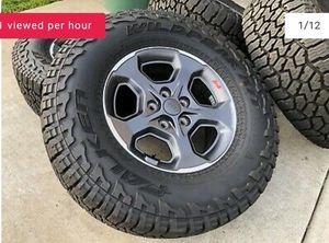 """2020 17"""" Jeep Gladiator oem grey wheels for Sale in Herriman, UT"""