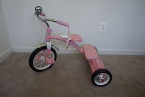 Radio flyer pink classic tricycle trike bike bicycle almost like new for Sale in Alexandria, VA