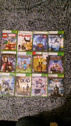 Assorted Xbox 360 Games Used (Negotiable) price for all for Sale in Auburn, WA