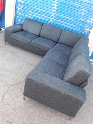 Comfortable sectional couch dark Gray 3 pieces, one year for Sale in Phoenix, AZ