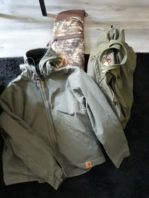 Carhart Jacket, Rifle Bag, Vietnam Era Military Issue Duffle Bag for Sale in Mesa, AZ