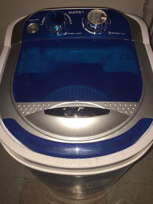 PLEASE READ AND LOOK AT PICTURES Very small KUPPET Portable Washer/spinner good for RV'S, Small apartments, gd for camping, very small can carry for Sale in Phoenix, AZ
