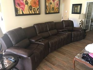 Recliner sectional. Power end recliners for Sale in Palm Beach, FL