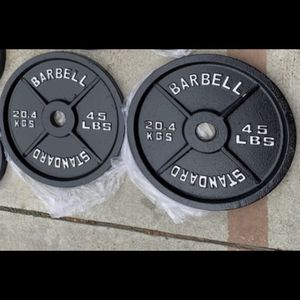 Olympic weight plates (2x45s) for $165 Firm on Price for Sale in Long Beach, CA