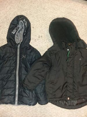 Under Armour Coat 6y and Calvin Klein Coat 4years for Sale in Odenton, MD