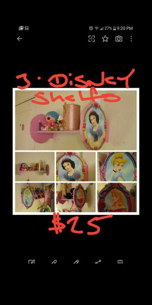 Disney wall shelves....$25 for all 3 for Sale in Fontana, CA
