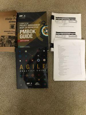 PMBOK6 and Agile book for Sale in Pleasanton, CA