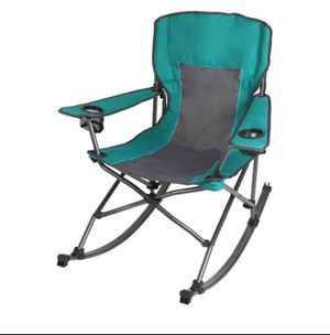 Ozark Trail Quad Fold Rocking Camp Chair with Cup Holders, Green A6-170 for Sale in St. Louis, MO