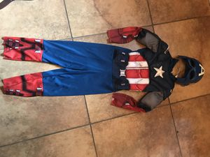 Captain America costume with mask for Sale in Spring, TX
