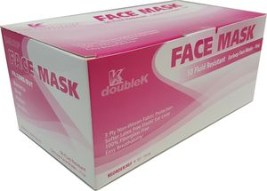 100Pcs Medical Surgical Grade Procedure Face Masks Earloop Face Mouth Masks 3ply Pink for Sale in Pomona, CA