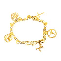 14k Heart Link Charm Bracelet for Sale in Brandywine,  MD