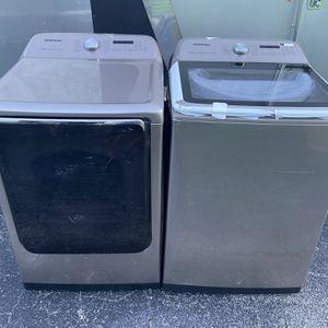 Lavadora Y Secadora Samsung Brand New Super Capacity 1 Año De Garantías for Sale in Miami, FL