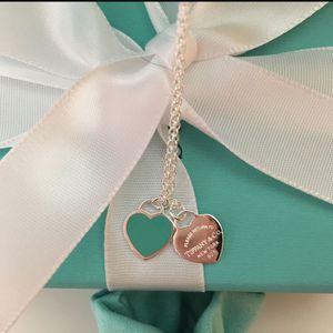 Tiffany & Co Mini Double Heart Tag Pendant 18inches BRAND NEW. for Sale in La Mirada, CA