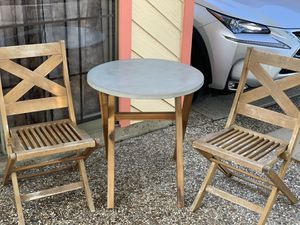 Patio table and chairs set - perfect for small spaces for Sale in Seabrook, TX