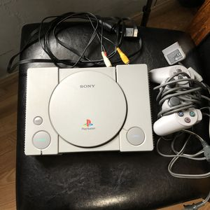 Original PlayStation 1 with 3 games for Sale in San Bernardino, CA