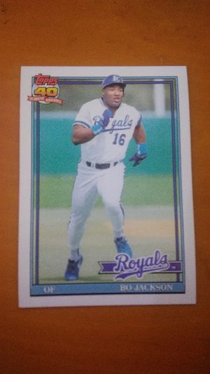 Bo jackson 1991 topps baseball card for Sale in Bothell, WA
