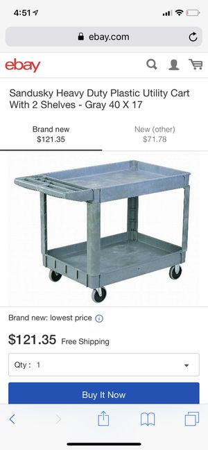 Sandusky Heavy duty plastic utility cart for Sale in Miami, FL