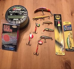 Fishing Tackle and 3000 yards of P Line leader for Sale in Portland, OR