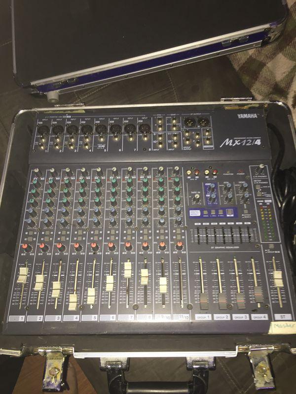 Yamaha Mx 12/4 pro audio mixer.