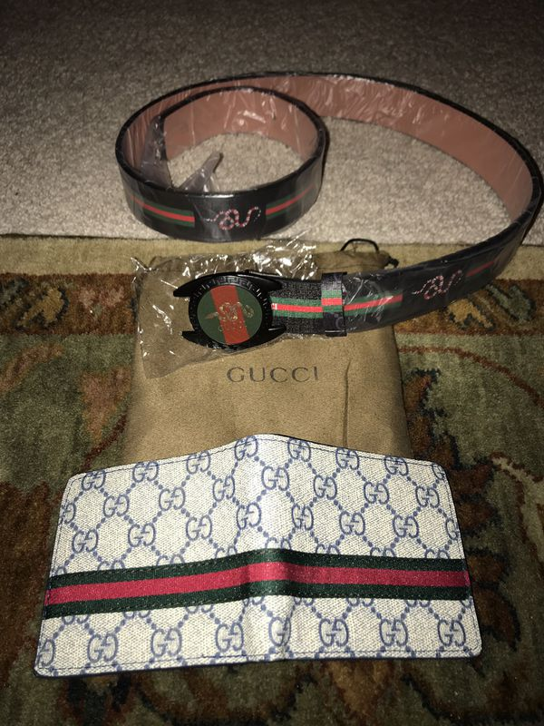 Authentic Gucci wallets and belt