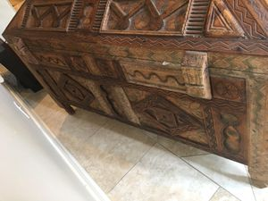 Hand crafted wood chest Mediterranian for Sale in Houston, TX