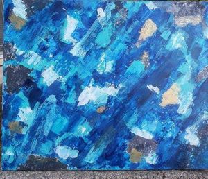 Large Abstract Coastal Original Art for Sale in Vancouver, WA