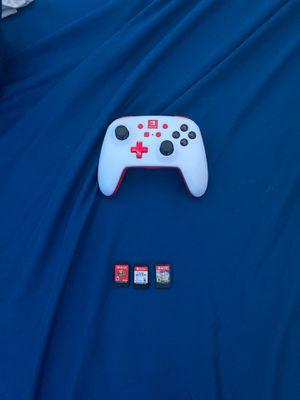 Nintendo switch games+pro controller PowerA for Sale in Alexandria, VA