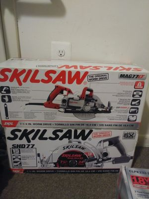 Two Black and red Skilsaw for Sale in Washington, DC