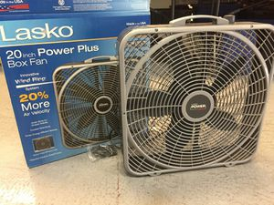 Lasko 20 in power plus box fan window fan for Sale in Mesa, AZ