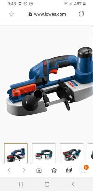 Bosch18-Volt 2.5-in Portable Band Saw Battery and Charger for Sale in Sacramento, CA