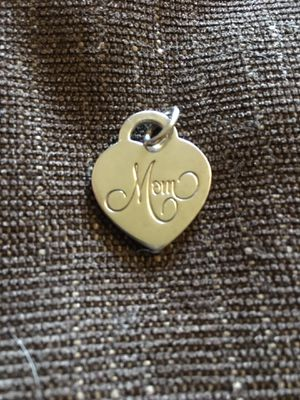 Tiffany & Co. sterling silver 'Mom' charm/pendant for Sale in Tacoma, WA