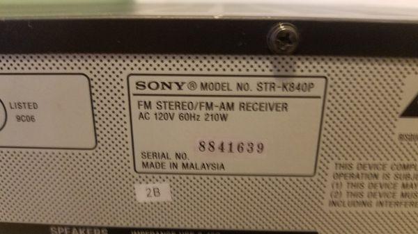 Sony STR-K840P stereo receiver with remote
