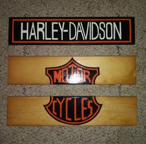 Harley Davidson Hanging Wall Decor Nice! for Sale in Pulaski, TN